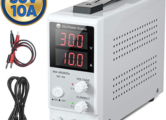 RoMech 30V 10A DC Power Supply Variable Mini - Adjustable Switching DC Regulated