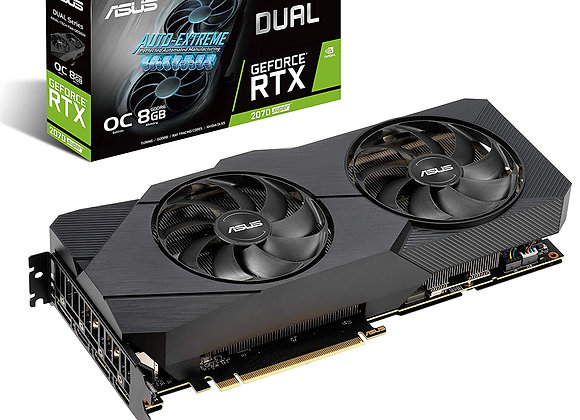 ASUS GeForce RTX 2070 Super Dual Overclocked Dual-Fan 8GB GDDR6 Graphics Card