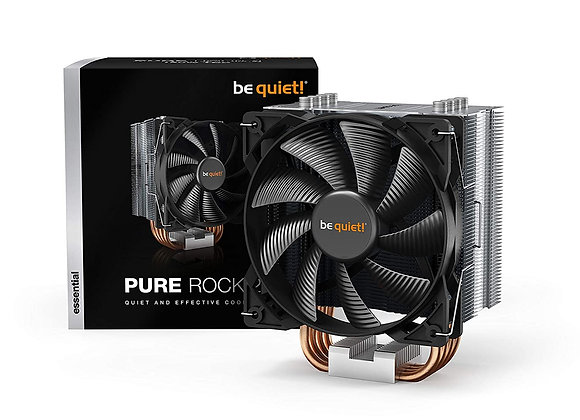 be quiet! Pure Rock 2, 150W TDP, CPU cooler, brushed aluminum, HDT technology