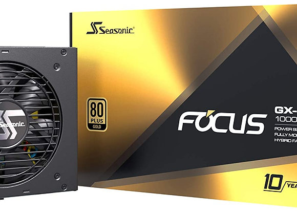 Seasonic Focus GX-1000, Full-Modular, Fan Control in Fanless Silent Cooling Mode