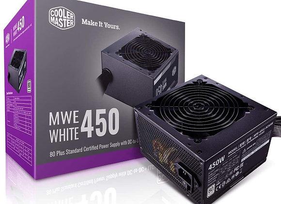 Cooler Master MWE 450 White 450W 80+ White PSU w/Hydro-Dynamic-Bearing