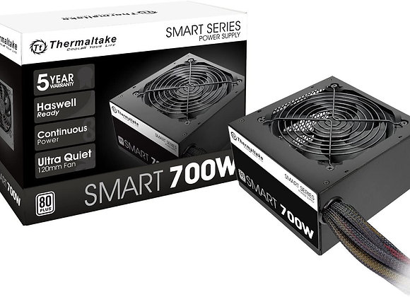 Thermaltake Smart 700W 80+ White Certified PSU, Continuous Power