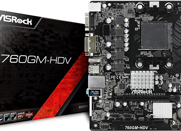 ASRock 760GM-HDV Socket AM3+/AM3/ AMD 760G/ DDR3/ SATA2&USB2.0 Motherboard