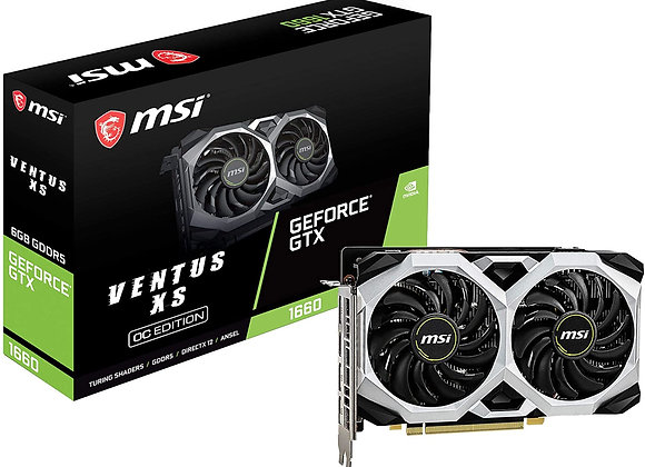 MSI GeForce GTX 1660 Ventus XS Overclocked Dual-Fan 6GB GDDR5 PCIe 3.0 Graphics