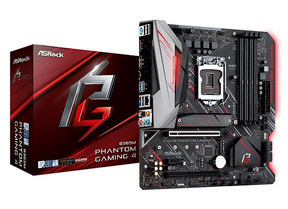 ASRock Motherboard B365M Phantom Gaming 4 Intel B365 S1151 DDR4 mAtx