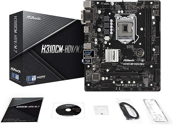 ASRock Intel H310 Chip with Micro Atx Motherboard