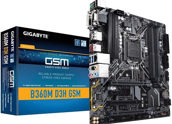 Gigabyte B360M D3H GSM LGA1151/Intel B360/DDR4/Quad CrossFireX/SATA3 Motherboard