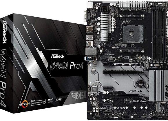 ASRock AMD Ryzen B450 AM4 Max.64GB DDR4 M.2 PCI Express Atx Windows 10