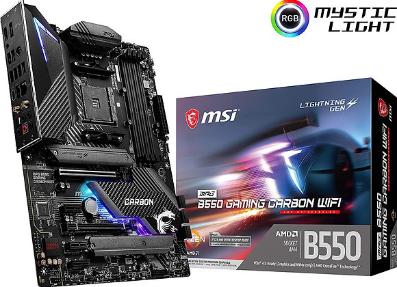 MSI B550 MPG Gaming Carbon WiFi AMD AM4 ATX Motherboard