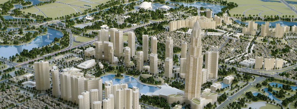 NHAT TAN-NOI BAI MASTER  PLAN, HANOI, VIETNAM.  This project has been built for our client Hanoi People Committee. Scale of this model is 1-1000.