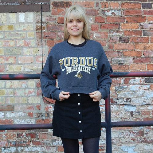 USA College Crop Sweatshirt