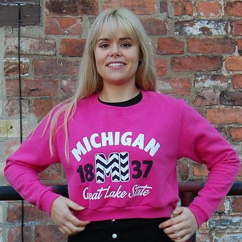 USA Michigan Crop Sweatshirt