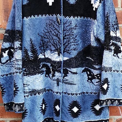 Hooded Horses Pattern Fleece
