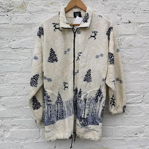 Winter Scene Thin Fleece Pattern Fleece