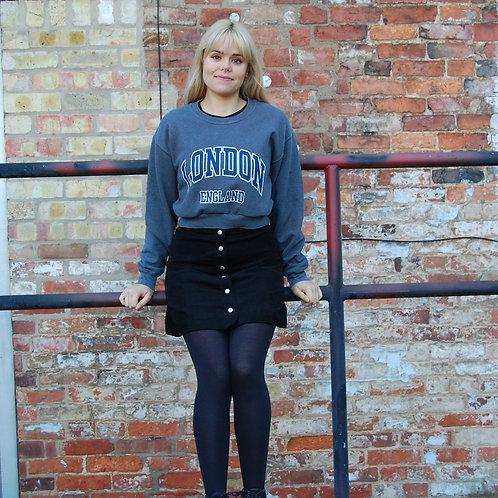 London England Crop Sweatshirt