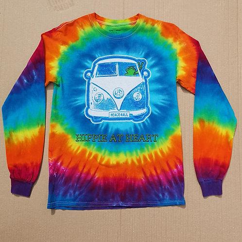 Hippie at Heart Tye Dye T Shirt