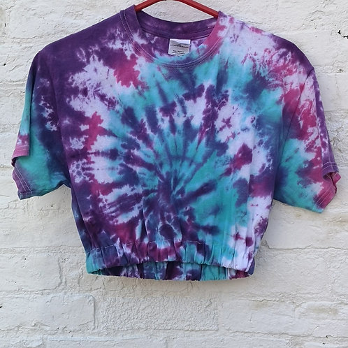 Cropped Tye Dye t Shirt