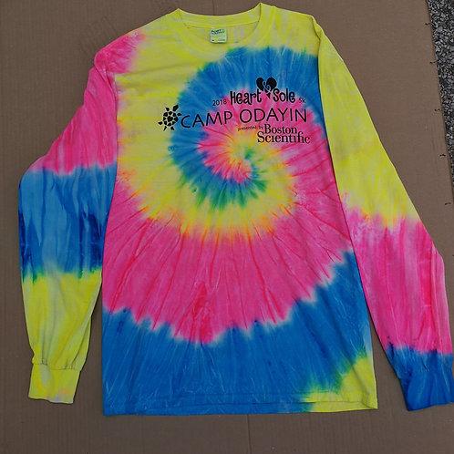 Long Sleeve Tye Dye T Shirt Camp Odayin