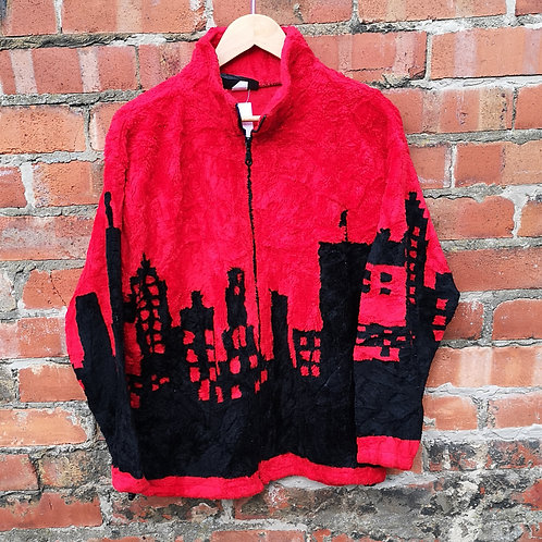 Skyscraper Scene Pattern Fleece