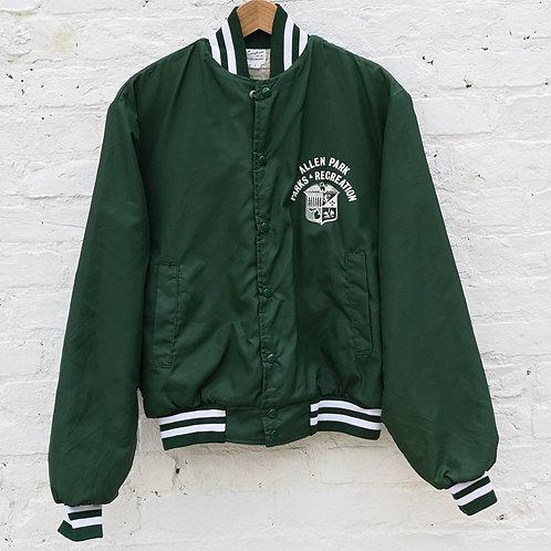 USA Fleece Lined Satin Work /  Coach Jacket
