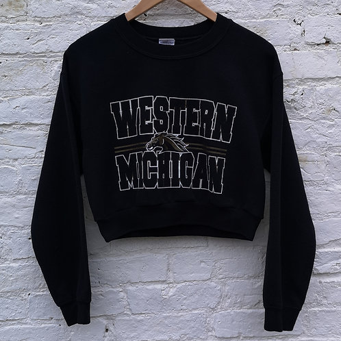 USA Western Michigan Crop Sweatshirt