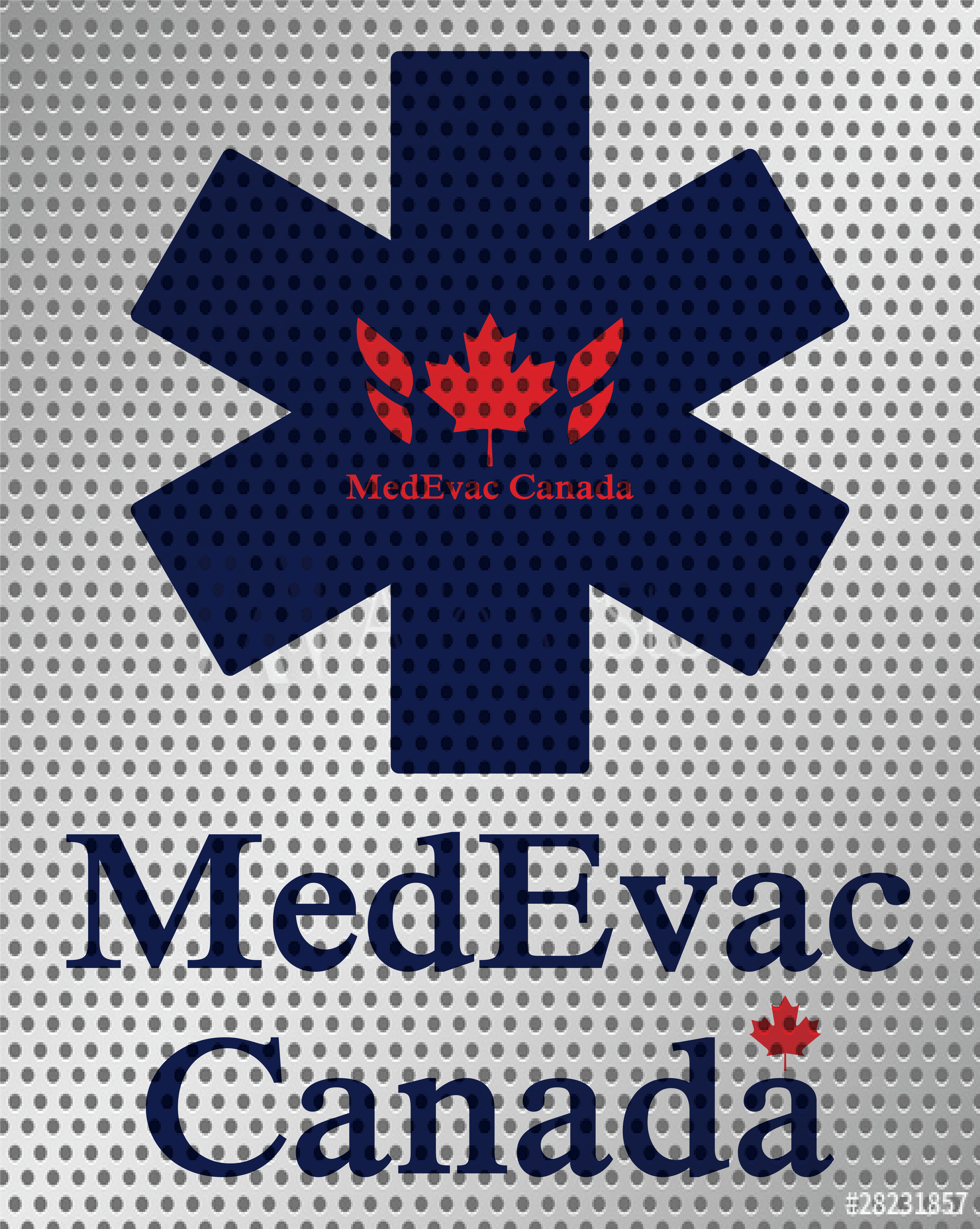 MedEvac Perforated Window Sign