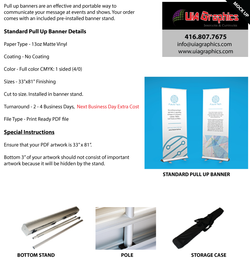 Pull Up Banner Sign | UiA Graphics
