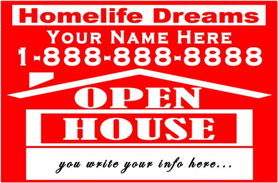 OPEN HOUSE SIGN | UiA Graphics