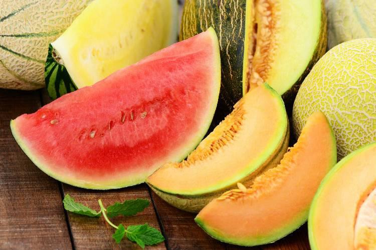 Foto: sandía y melón