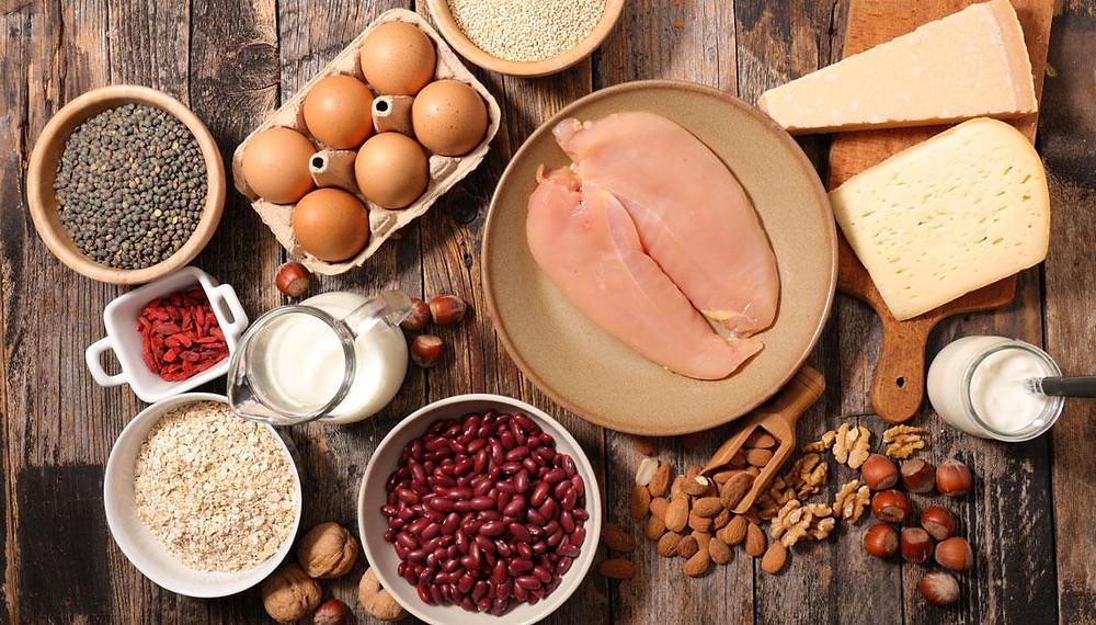 Foto: alimentos con proteínas