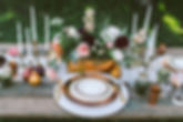 Wedding Table Setting With Floral Arrang