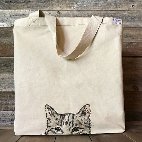 Organic Large Shopper 'Curious Cat'