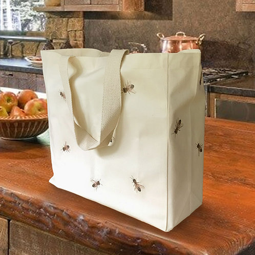 Organic Luxe Tote 'Give Bees a Chance'