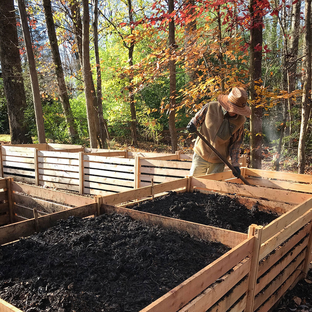 Hot Composting in Wooden Bins