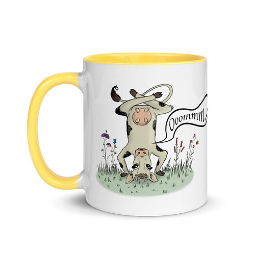 Willow the Zen Cow Mug with Color Inside