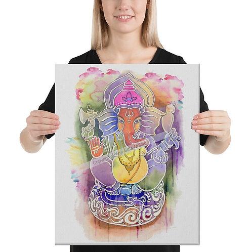 "Lord Ganesha 16"" x 20"" Canvas Print"