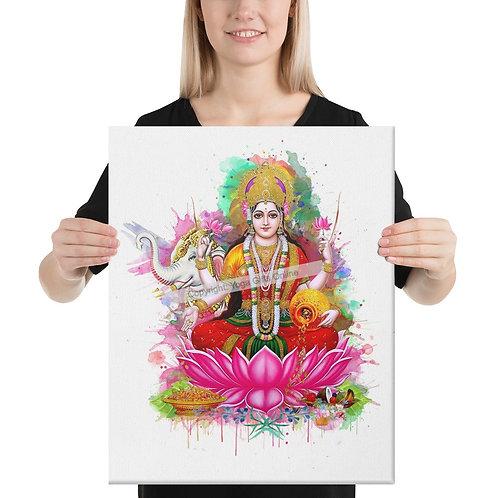 """Goddess Lakshmi  16"""" x 20"""" Canvas Print"""