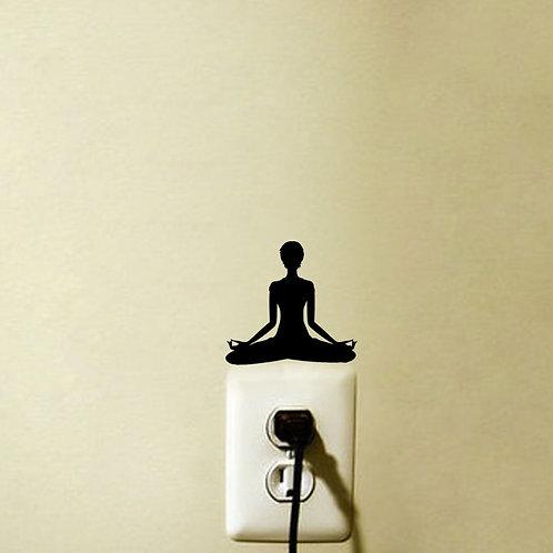 Yoga Meditation Light Switch Sticker/Decal