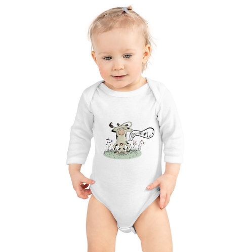 Willow the Zen Cow Infant Long Sleeve Bodysuit