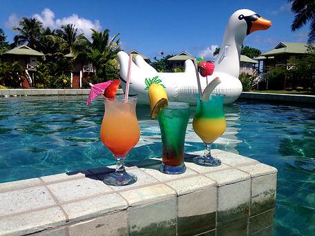 Drinks at the Salani Surf pool