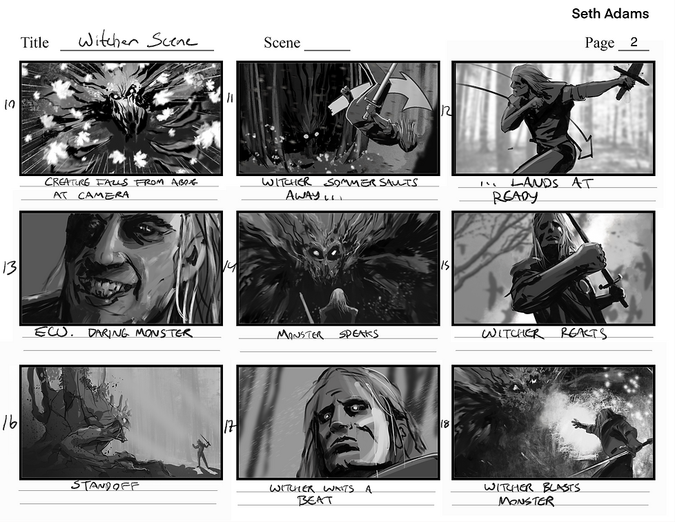 Witcher Spec Storyboards 2 Seth Adams.pn
