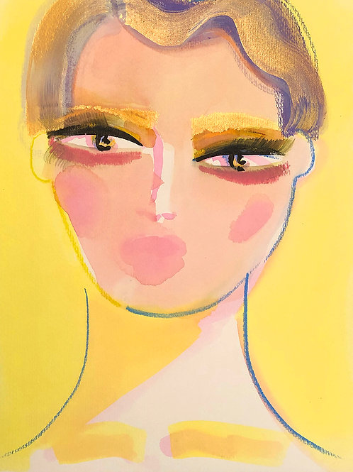 Portrait in Pink and Yellow