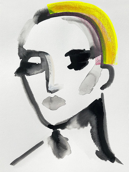 Portrait with Yellow Hair