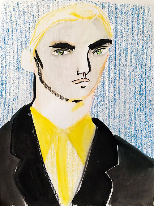 Portrait in Yellow and Blue