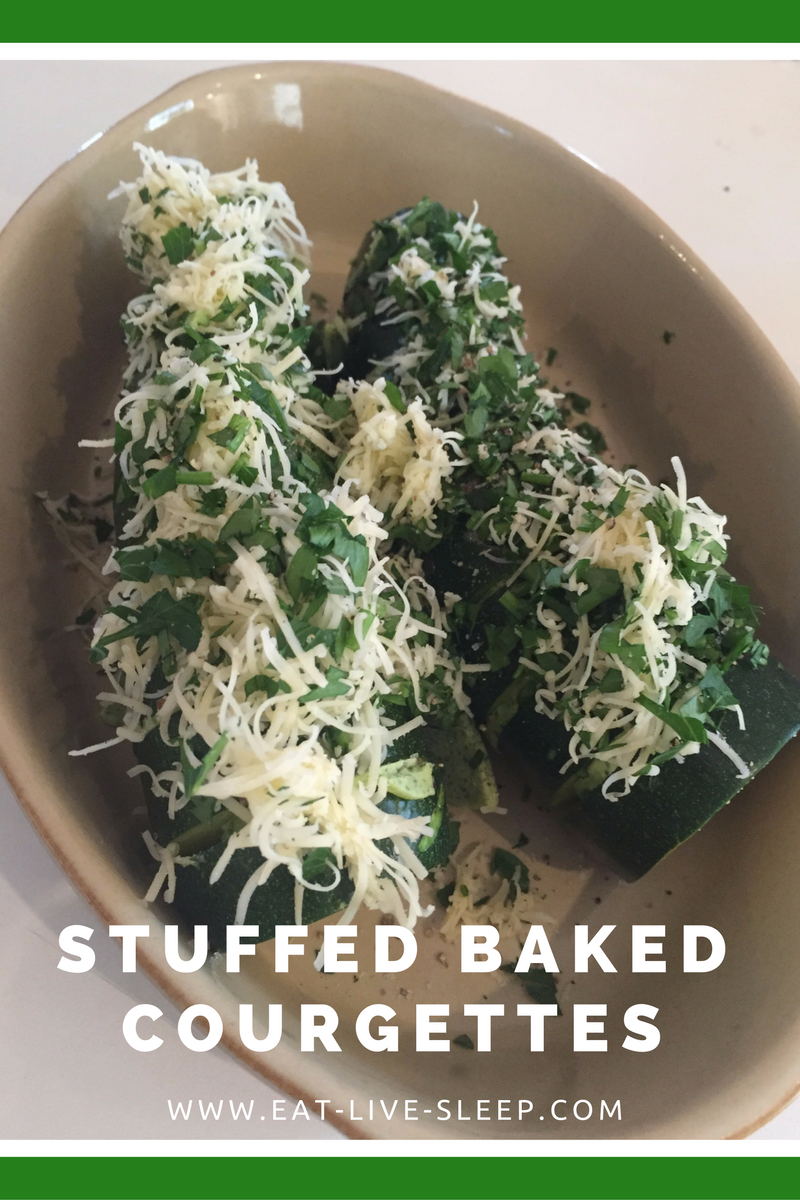 stuffed bakedcourgettes