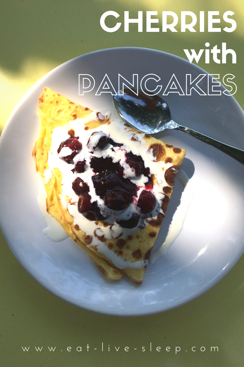 cherries with pancakes