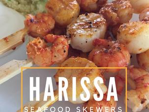Harissa Seafood Skewers