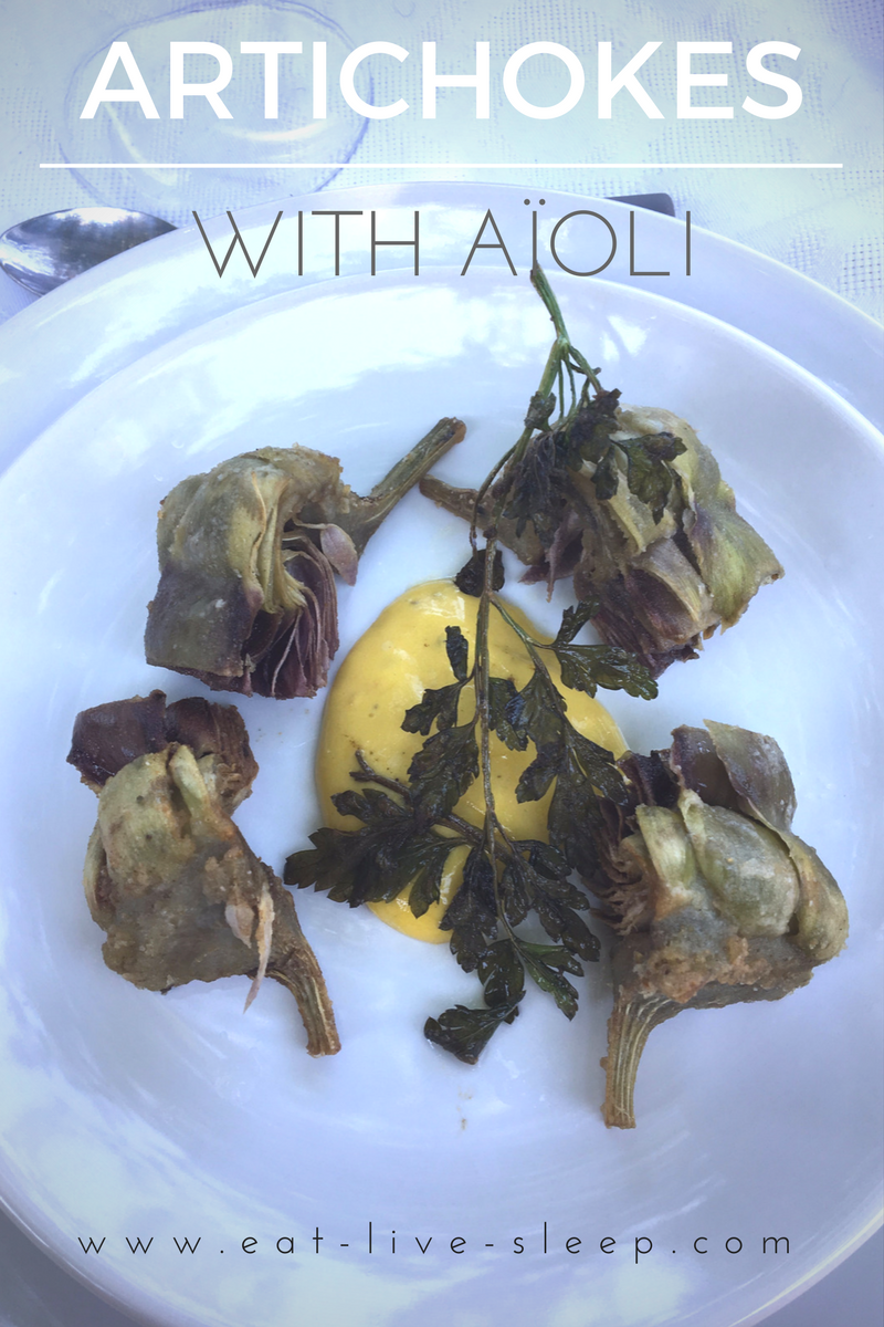 artichokes with aioli