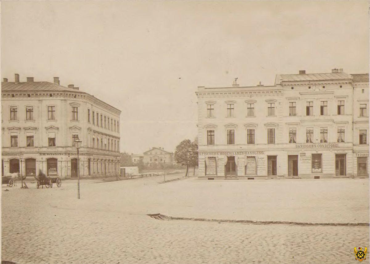 widok na ulicę z rynku, 1872r.