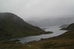 Mageroya im Nebel, Norwegen